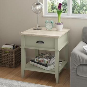 Ameriwood Home Laguna Oak Beach Sand End Table