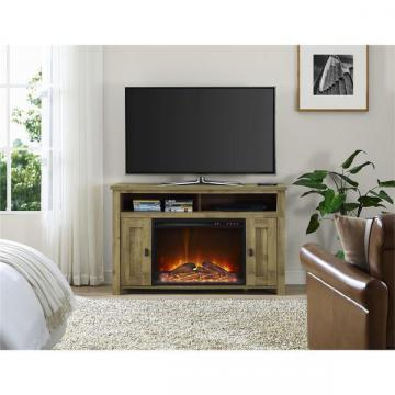 Ameriwood Home Farmington Heritage Light Pine 50-inch Media Fireplace