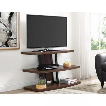 Ameriwood Home Castling Espresso/ Black TV Stand for TVs up to 55""