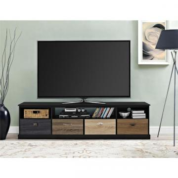 Ameriwood Home Blackburn 65-inch TV Console with Multi-colored Drawer Fronts