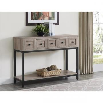 Ameriwood Home Barrett Sonoma Oak Modern Farmhouse Console Table
