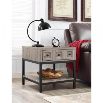 Ameriwood Home Barrett Modern Farmhouse Sonoma Oak End Table