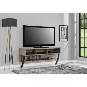 Ameriwood Home Asher Sonoma Oak Wall Mounted 65-inch TV Stand