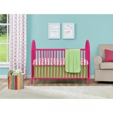 Ameriwood Home Adjustable Pink Metal Crib by Cosco