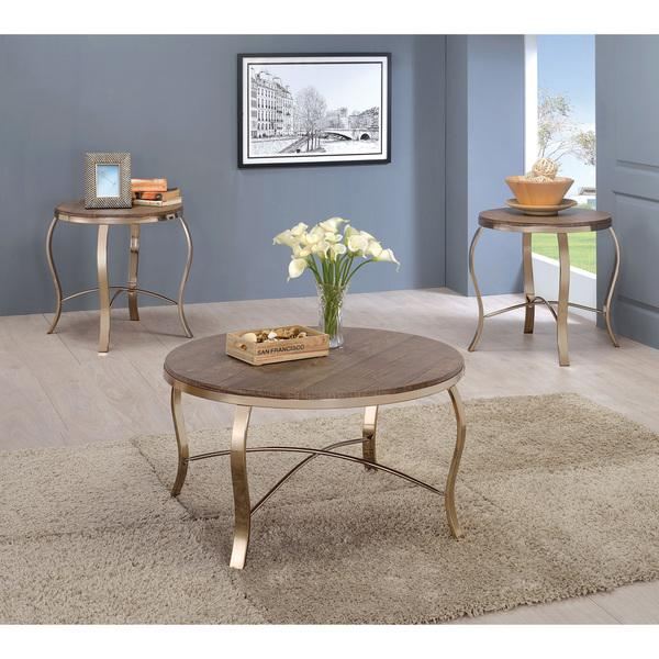 Furniture of America Tayla Contemporary 3-piece Glam Accent Table Set