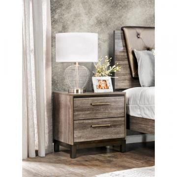 Furniture of America Silvine Contemporary Antique Grey 2-Drawer Nightstand
