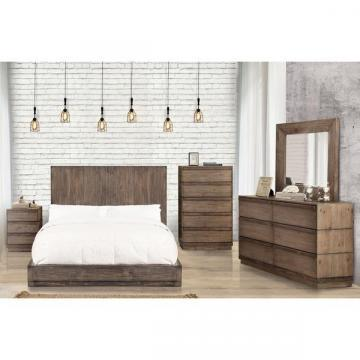Furniture of America Remings Rustic Natural Tone Low Profile Bedroom Set