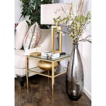 Furniture of America Midiva Contemporary Metal End Table