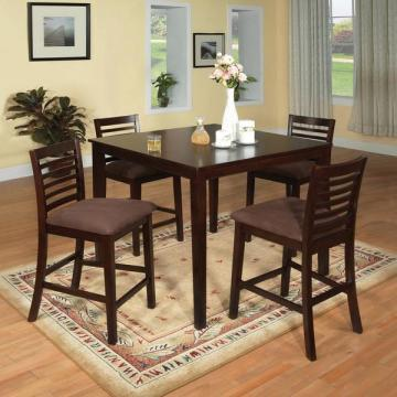 Furniture of America Eazton Transitional Microfiber Counter Height Dining Set