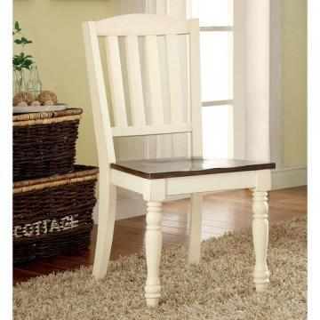 Furniture of America Bethannie Cottage Style 2-Tone Dining Chair (Set of 2)