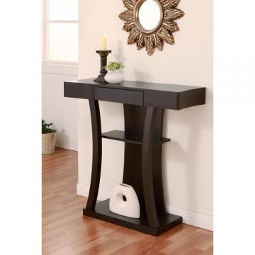 Furniture of America Ames Modern Multi-storage Cappuccino Console Table