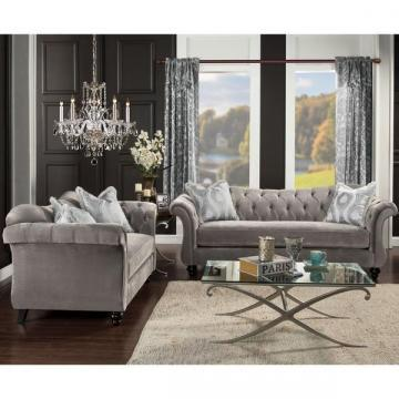 Furniture of America Agatha Traditional Tufted Loveseat