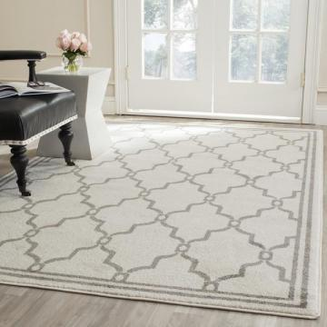 Safavieh Indoor/ Outdoor Amherst Ivory/ Grey Rug (10' x 14')