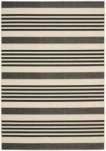Safavieh Black/ Bone Indoor Outdoor Rug