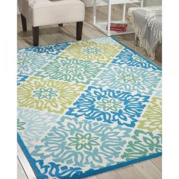 Nourison Waverly Sun N' Shade Sweet Things Marine Indoor/Outdoor Rug (5'3 x 7'5)