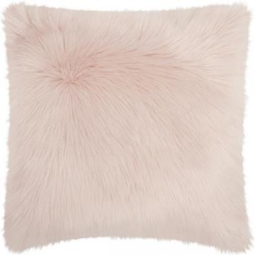 Nourison Mina Victory Faux Fur Rose Throw Pillow (22-inch x 22-inch)