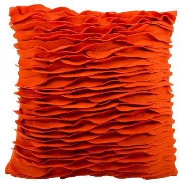 "Nourison Mina Victory Felt Burnt Orange Throw Pillow (18"" x 18"")"