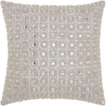 Nourison kathy ireland Marble Beads White Throw Pillow (12 x 12-inch)