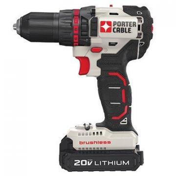 Porter-Cable Brushless Drill/Driver Kit, Two 20V Lithium-Ion Batteries, 1/2""