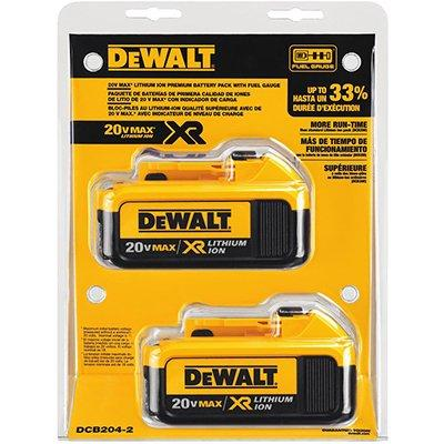 DeWalt Lithium-Ion Battery, 20V, 2pk