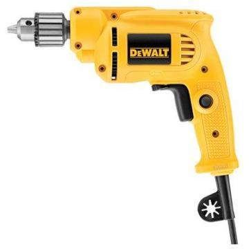 "DeWalt Drill, Variable-Speed Reversing, 6-Amp, 0-2,500-RPM, 3/8"" Chuck, Ball-Bea"