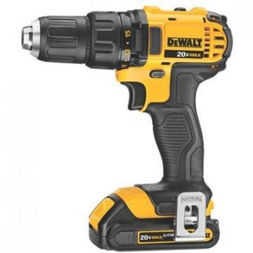 DeWalt Compact Cordless Drill / Driver Kit, 20V Lithium-Ion Battery, 1/2""