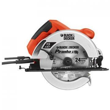 Black & Decker Circular Saw, Rubber Grip Handle, 0-45 Degree Cuts,  7-1/4""