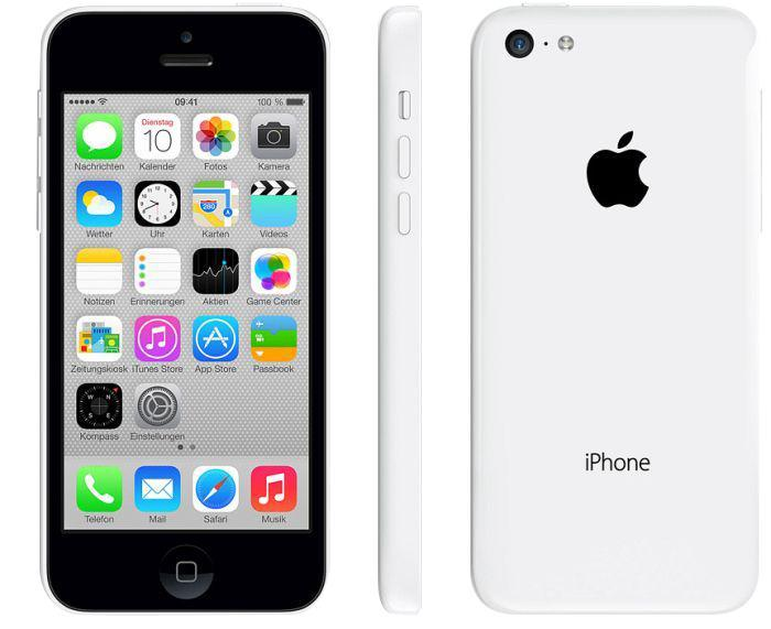 Apple iPhone 5C 8GB, White, SIM Free