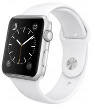 Apple Watch Series 2 38mm Silver Case with White Sport Strap