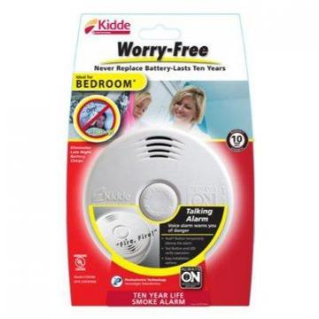 Kidde Bedroom Smoke Alarm With Voice Alert
