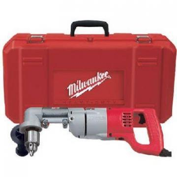 "Milwaukee Tool Variable-Speed Right-Angle Drill Kit with 1/2"" Chuck"