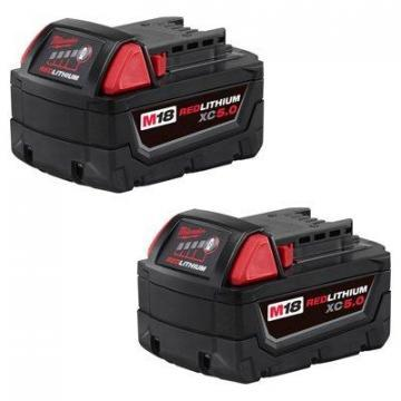 Milwaukee Tool M18 Red Lithium XC High Capacity Battery, 2pk