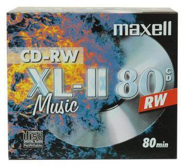 Maxell CD-RW Blank CDs in Jewel Cases - Pack of 10