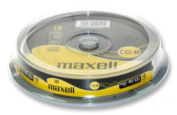 Maxell 52x Speed CD-R Blank CDs - Pack of 10