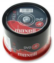 Maxell 16x Speed DVD-R Blank DVDs - Spindle Pack of 50