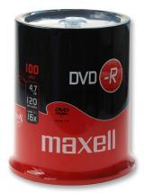 Maxell 16x Speed DVD-R Blank DVDs - Spindle Pack of 100