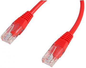 Pro Signal RJ45 Ethernet Patch Lead with CCA Conductors, 0.2m Red