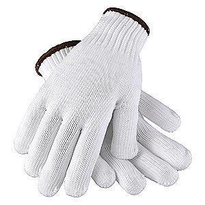 Condor White Knit Gloves, Polyester, Size L