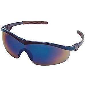Condor Thunder Scratch-Resistant Safety Glasses, Blue Mirror Lens Color