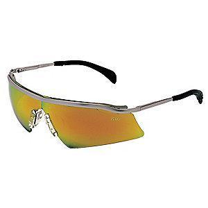 Condor Persuader Metal Scratch-Resistant Safety Glasses, Red/Orange Mirror Lens