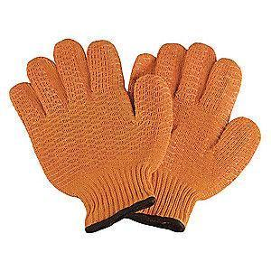 Condor Orange Ambidextrous Knit Gloves, Acrylic/Polyester, Size L