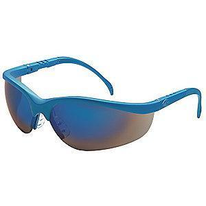 Condor Nome Scratch-Resistant Safety Glasses, Blue Mirror Lens Color
