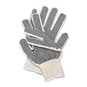 Condor Natural/Black Ambidextrous Knit Gloves, Polyester/Cotton, Size XS