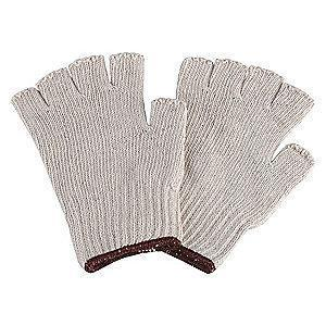 Condor Natural Knit Gloves, Polyester/Cotton, Size L