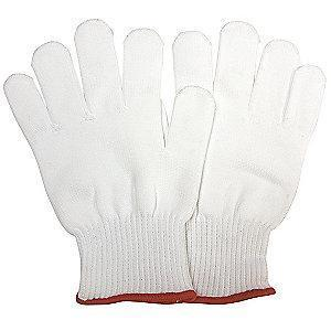 Condor Natural Knit Gloves, Cotton/Spandex, Size L, 13 Gauge