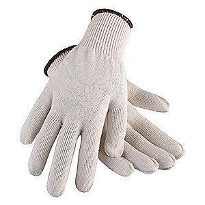 Condor Natural Heavyweight Knit Gloves, Polyester/Cotton, Size L, 13 Gauge