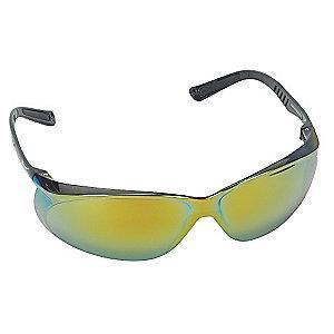 Condor Jbird Scratch-Resistant Safety Glasses, Red Mirror Lens Color