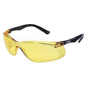 Condor Jbird Scratch-Resistant Safety Glasses, Amber Lens Color