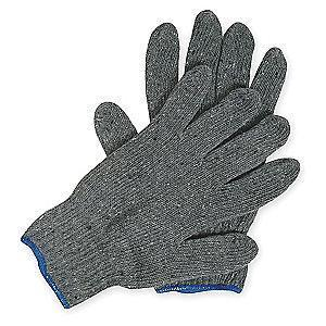 Condor Gray Knit Gloves, Polyester/Cotton, Size L