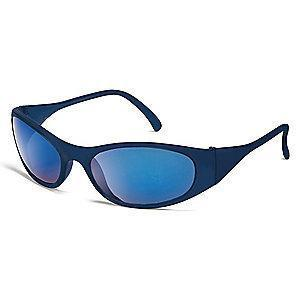 Condor Freeze Scratch-Resistant Safety Glasses, Blue Mirror Lens Color
